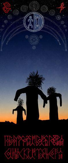 """Травы собирали, Корни вырывали """"По бору ходили, Болесть говорили, Месяц скрали, Солнце съели""""  (""""Witches""""),  графика, digital coloring"""