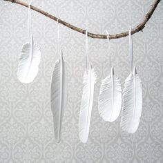 "Feathers - Maybe this could be an ""installation"" in the background?"