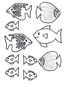 Bright image with regard to fish cutouts free printable