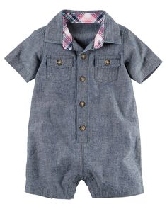 Baby Boy Chambray Romper | Carters.com