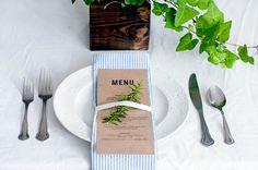 DIY wedding napkins