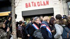 """Mélenchon devant le Bataclan: """"on doit résister à la peur"""""""