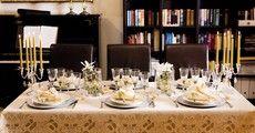 Weihnachtliche Tischdekoration mit Duni - Festive Spirit Champagne