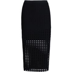 T By Alexander Wang 3/4 Length Skirt ($240) ❤ liked on Polyvore featuring skirts, bottoms, black, black skirt, patterned pencil skirt, print pencil skirt, circle skirt and bodycon pencil skirt
