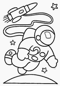 a is for astronaut coloring sheet if needed - Outer Space Coloring Pages