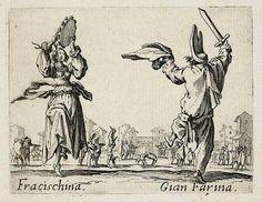 Fracischina and Gian Farina, from Balli di Sfessania (c.1622)
