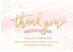 50 Large 4x6 Professional Thank You Cards Ebay Poshmark Etsy Postcard Size Modern Gold Pink White by LesTroisJ on Etsy Pink Flower Photos, Floral Flowers, Gold Polka Dots, Pink Stripes, Thank You Stickers, Thank You Cards, Pink And Gold, Pink White, Purchase Card