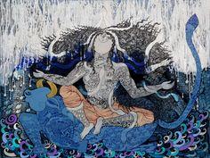 Seema Kohli- Brahamani, mix medium on canvas