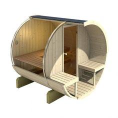 Inside the barrelsauna 200 | EasySaunas.nl | Sauna | Barrel sauna | Buitensauna | Buiten sauna
