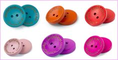 100 pcs custom round wooden button personalized button with your own shop name. $24.00, via Etsy.