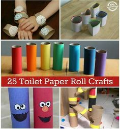 Toilet paper roll crafts Crafts To Do, Diy Crafts For Kids, Easy Crafts, Arts And Crafts, Upcycled Crafts, Kids Diy, Summer Crafts, Craft Activities For Kids, Preschool Crafts