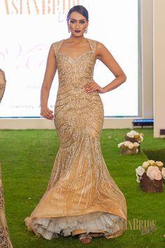 Gold Bridal lengha dress Mongas-INDIAN-PAKISTANI-WEDDING-FASHION