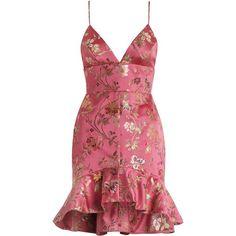 ZIMMERMANN Cavalier Flounce Bodice Dress (€500) ❤ liked on Polyvore featuring dresses, vestidos, zimmermann, floral dresses, zipper dress, floral ruffle dress, floral print cocktail dress and red ruffle dress