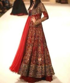 India on pinterest indian dresses indian fashion and saree - Peach and red combination ...