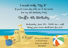 Beach Party Invitation Templates Free Beach Theme Ideas