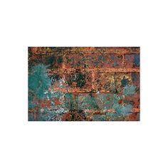 Peeling Layers of Paint on Brick   Free Stock Photo from Grunge... ❤ liked on Polyvore featuring backgrounds, textures, abstract, art, grunge, phrase, quotes, saying and text