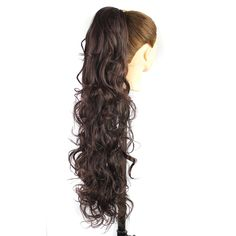 Luxury for Braiding 30inch 210g  Long Wavy High Temperature Fiber Synthetic Hair Pieces Claw Clip Ponytail Extensions for Women