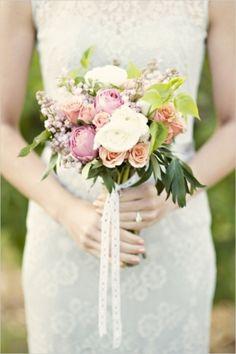 Vintage pastel bridal wedding bouquet #bouquet #pastel #vintage #orchard  Photo by: Kristen Joy Photography on Wedding Chicks