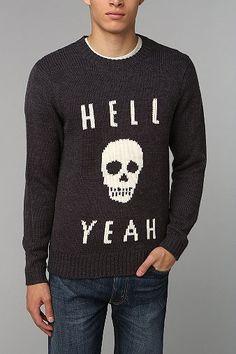 Glamour Kills Hell Yeah Skull Sweater