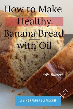 Find out how to make this classic banana bread recipe with oil. This is the ultmate moist banana bread recipe. It is made with no butter and is dairy free. No Butter Banana Bread, Banana Recipes No Butter, Best Healthy Banana Bread Recipe, Banana Bread With Oil, Greek Yogurt Banana Bread, Buttermilk Banana Bread, Flours Banana Bread, Buttermilk Recipes, Recipe Using Honey