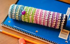 Crochet Case For Pencils – Perfect For Back To School