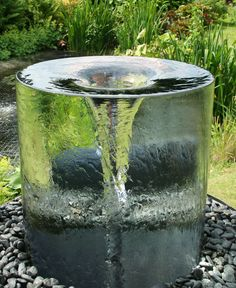 Volute Water Fountain #Gardens #Water_Fountain