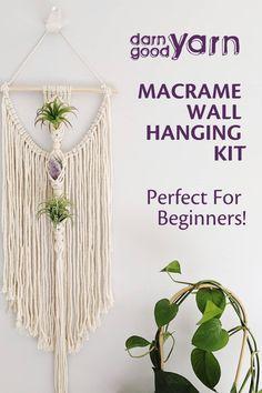 Macrame Plant Hanger Patterns, Free Macrame Patterns, Macrame Wall Hanging Patterns, Crochet Wall Hangings, Macrame Plant Hangers, Macrame Art, Macrame Design, Macrame Projects, Diy Crochet Wall Hanging