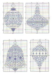 Blackwork Christmas Ornaments