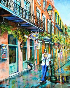 Jazz In The Quarter by Dianne Parks (New Orleans)
