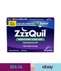 Sleeping Aids Vicks Zzzquil Nighttime Sleep-Aid Liquicaps, 48 Count #ebay #Fashion