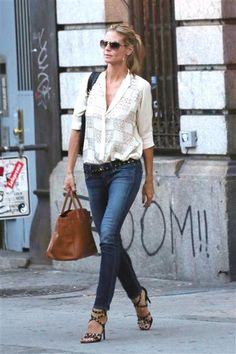 Heidi Klum leaves her apartment in New York's SoHo district on June 30, 2014.Like us on Facebook?