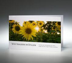 Trauerkarte Sonnenblume
