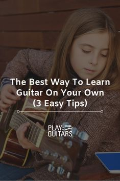 Looking to play guitar? The best way to learn guitar at home has never been easier. Here are six tips to start playing in no time. Learn Guitar Chords, Guitar Chords Beginner, Learn To Play Guitar, Guitar For Beginners, Guitar Strumming, Guitar Books, Music Guitar, Playing Guitar, Acoustic Guitar