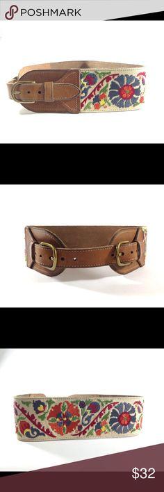 SOLD Lucky Brand Floral Waist Belt Lucky Brand Floral Embroidered Leather Belt Lucky Brand Accessories Belts
