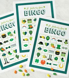 It's easy to create Irish-themed bingo cards with these St. Holiday Activities, Holiday Crafts, Holiday Fun, Autism Activities, St Patrick's Day Games, St Patricks Day Food, Saint Patricks, St Patricks Day Cards, March Crafts