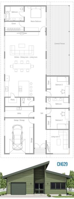 Floor Plan House Plan, House, House Project Image Size: 900 x 2429 Source Narrow House Plans, Shed House Plans, Beach House Plans, Bungalow House Plans, Cottage House Plans, Dream House Plans, House Floor Plans, Classical Architecture, Architecture Plan
