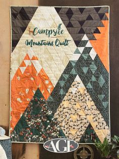"""Mountains Quilt"" featuring our fabric collection, ""Campsite."""