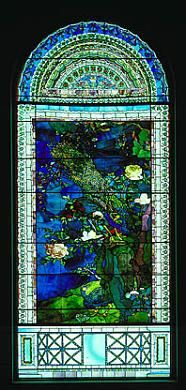 Peacocks and Peonies I by John La Farge, 1882, Smithsonian American Art Museum. #art, #stained_glass