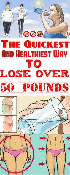 The Quickest And Healthiest Way To Lose Over 50 Pounds Weight loss requires motivation dedication determination and huge changes in the lifestyle. If you need to lose over 50 pounds you need to know that it is not too difficult to get started. Ways To Loose Weight, Lose Weight In A Week, Need To Lose Weight, Diet Plans To Lose Weight, Losing Weight Tips, Weight Loss Plans, Weight Loss Program, Lost Weight, Weight Loss For Women