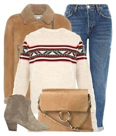 """""""Forest Walk"""" by monmondefou ❤ liked on Polyvore featuring Topshop, Acne Studios, Isabel Marant, Chloé, brown and beige"""