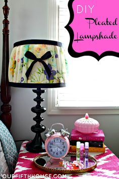 how to make a pleated lampshade