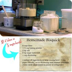 Make your own Bisquick Mix.