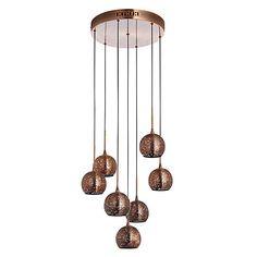 Buy John Lewis Simba Dangles Cluster Ceiling Light, 7 Light, Copper Online at johnlewis.com