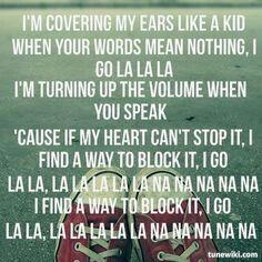 La la la naughty boys lyrics