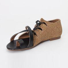 """Kayra"" Linen sandals"
