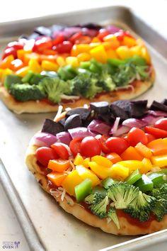 Rainbow pizza! レインボー野菜のピザで夏の準備はバッチリだね
