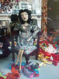 I was prettytaken with textile artist Amanda Fatherazi's hand-sewn boudoir dolls