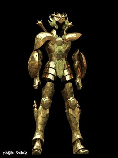 Las 2 armaduras doradas reales15