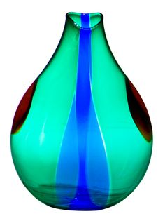 Murano Glass Made in Italy | Murano Seguso Viro Art Glass Vase made in Italy : The Old Cinema ...