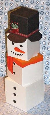 cut file: snowman out of nested boxes